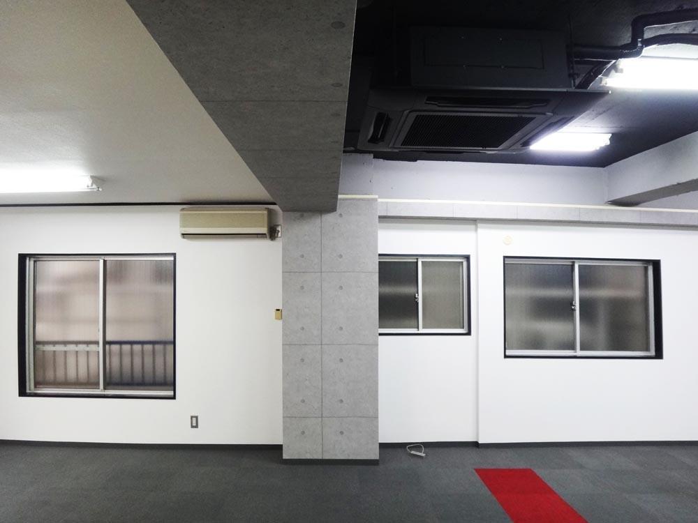 奥側は天井が貼られていて少し低くなっています。(約2.3m)