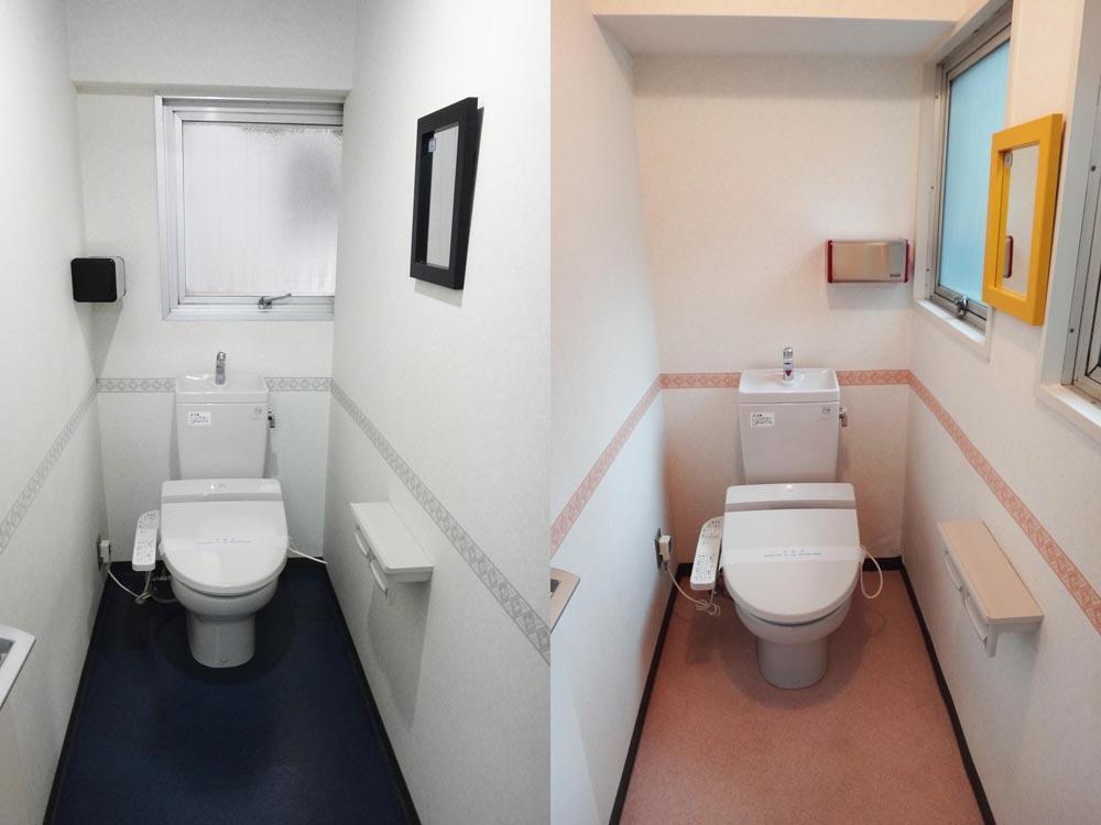 トイレは二つあります。