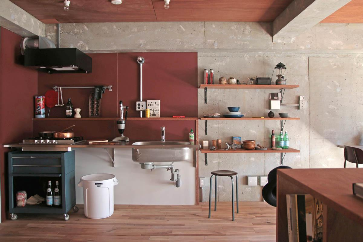 オープンなキッチン