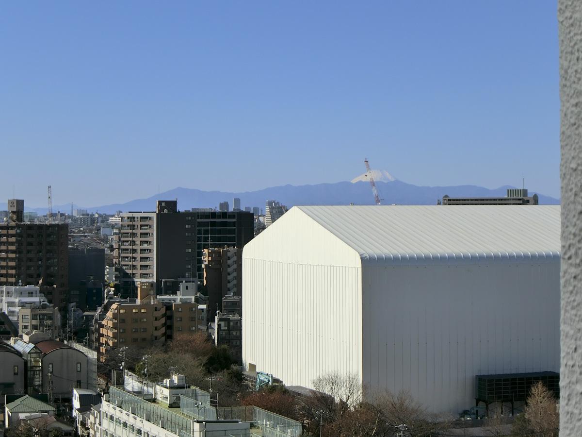 約15.2畳の洋室から、富士山ビュー(リビングからも同じように見えます)