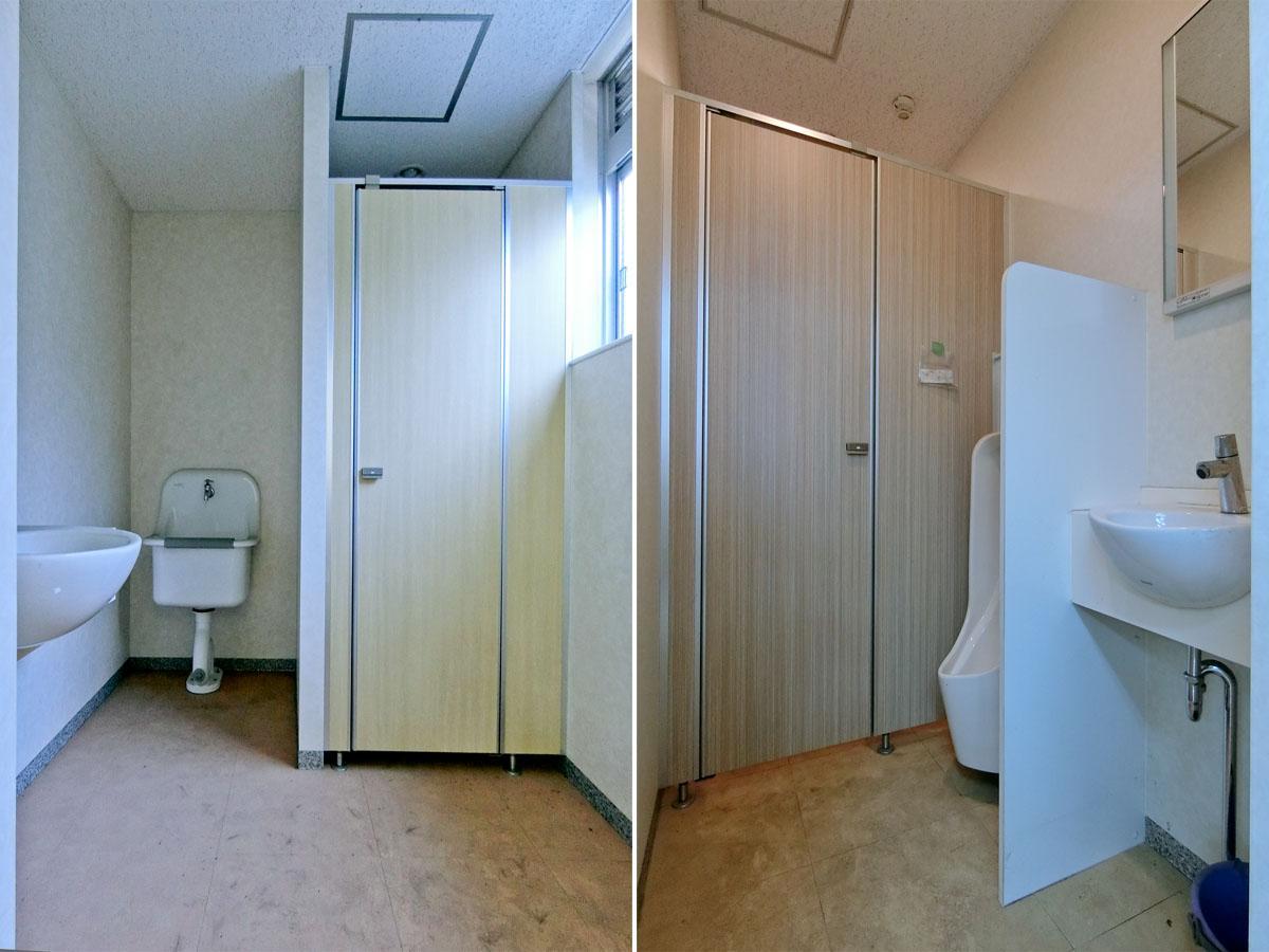 トイレも全てのフロアに新しめで同じものが用意されています