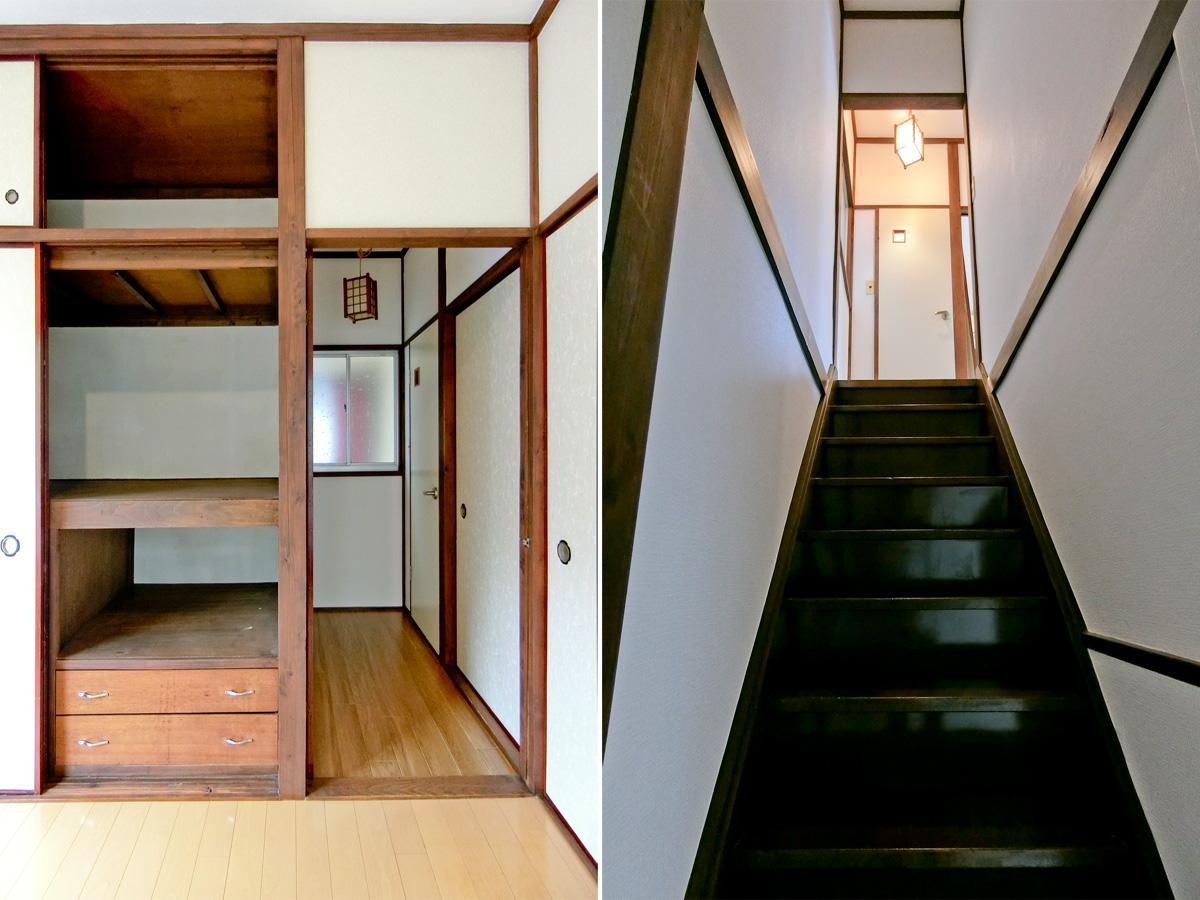 左:2階収納