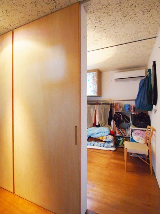 引き戸を閉めて個室にすることもできる。