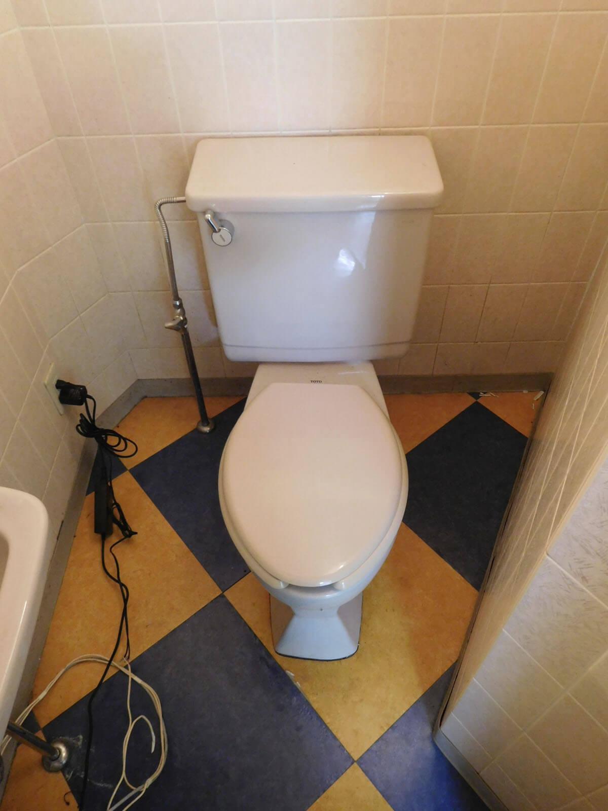 トイレも残ってます。