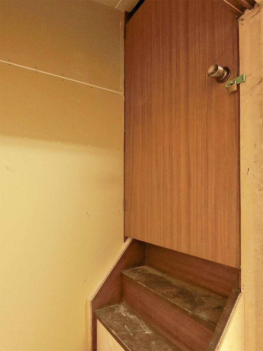 2階部分は現在使われていない