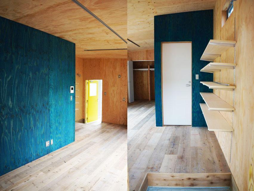 こちらの部屋はブルーがアクセント。