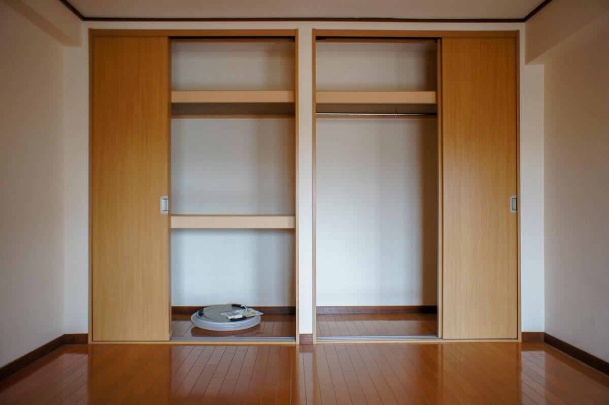 6畳洋室には大きめのクローゼット付き