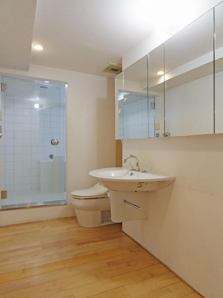 ゆとりある洗面室
