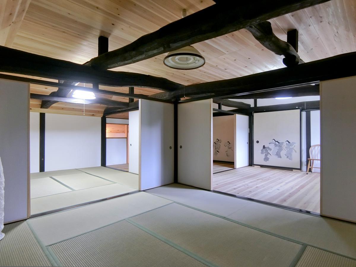 2階:細かい部屋に分けられています