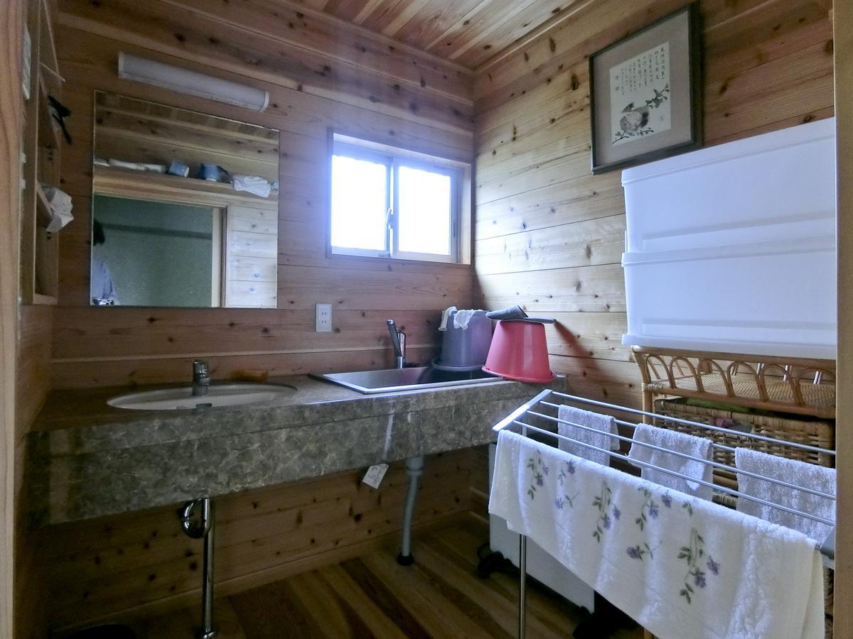 1階:新設された洗面台