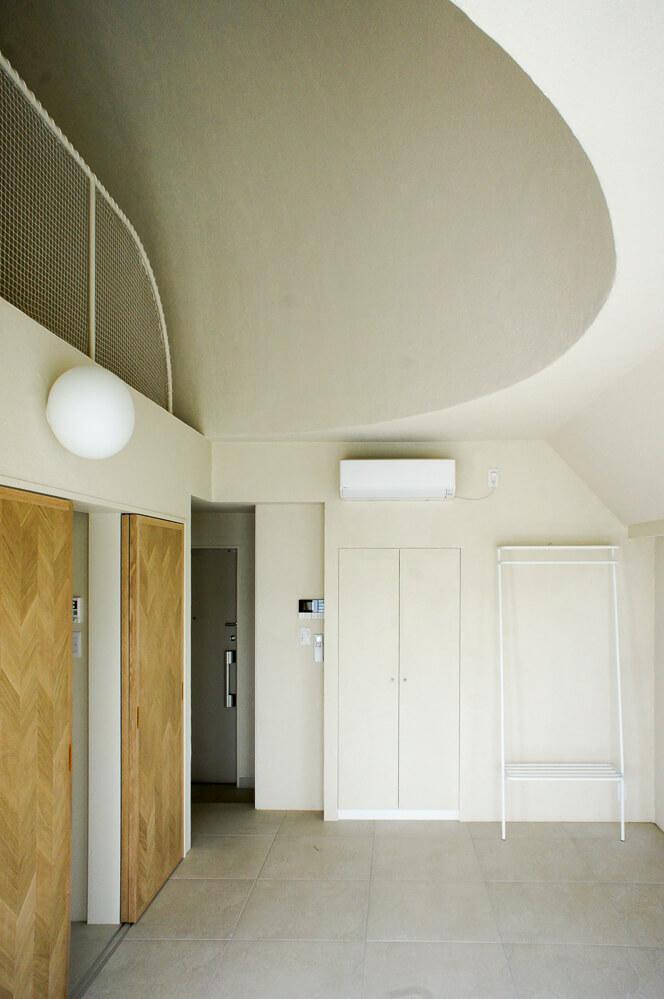 くりっときれいに丸く抜かれた天井