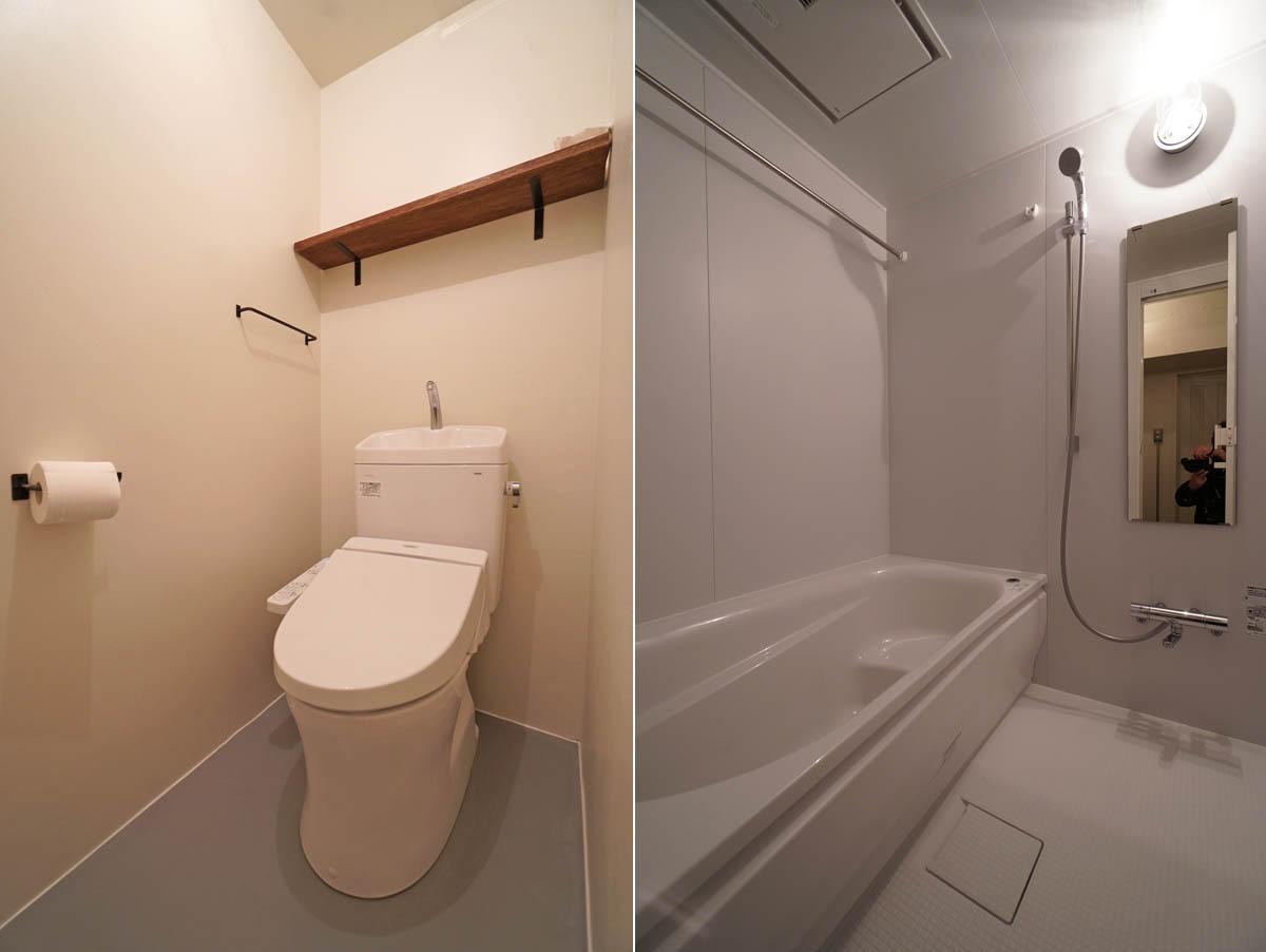 1416のゆったりとしたバスルーム
