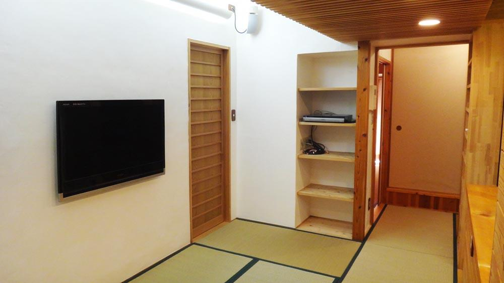 リビングから全ての居室の床は畳です