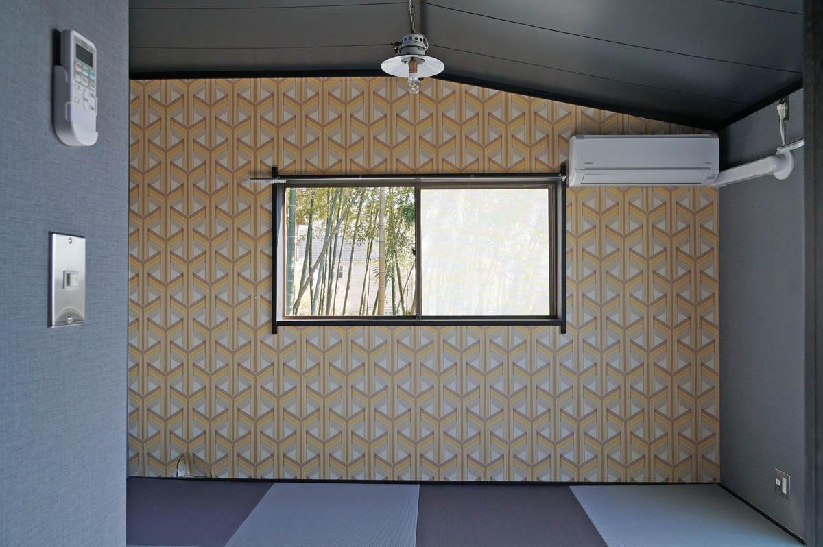 琉球畳を用いながら、国籍不明なテイストの1階