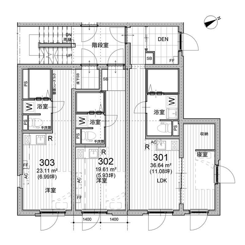 301号室図面