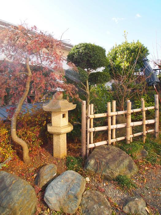 【南側】奥は和風の庭