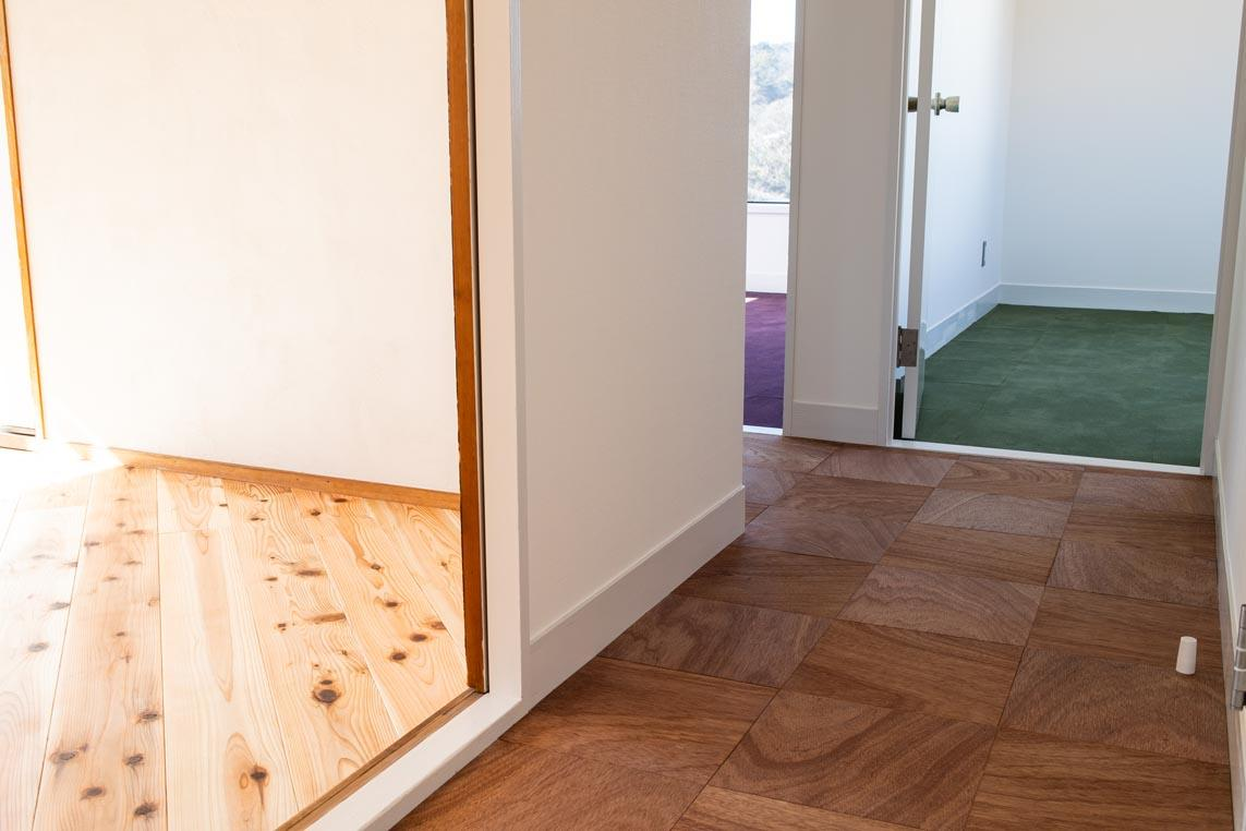 各部屋・廊下の床の違いがよくわかります