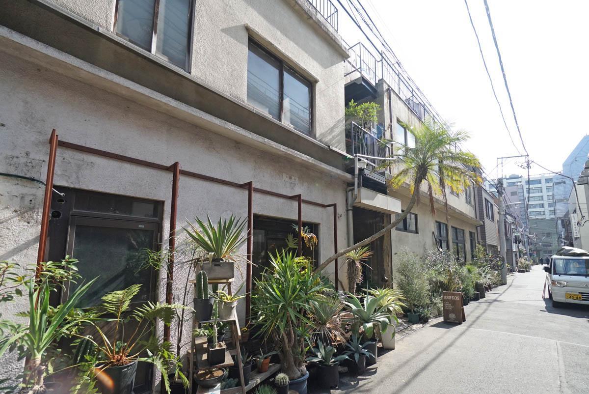 今回のビルの向かいにある、工務店さんの運営するカフェなどが入ったビル