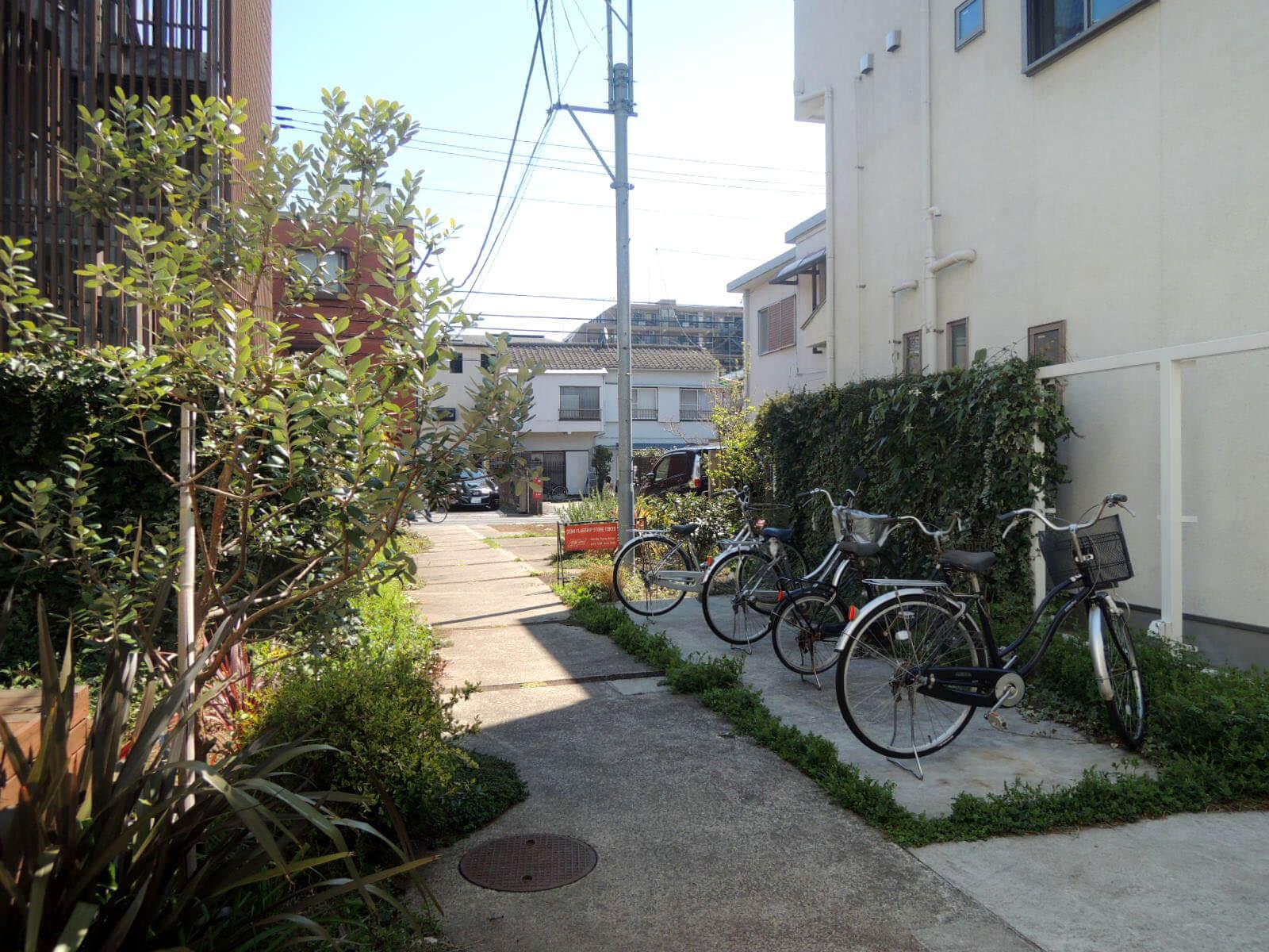 自転車は1台無料でとめられます。