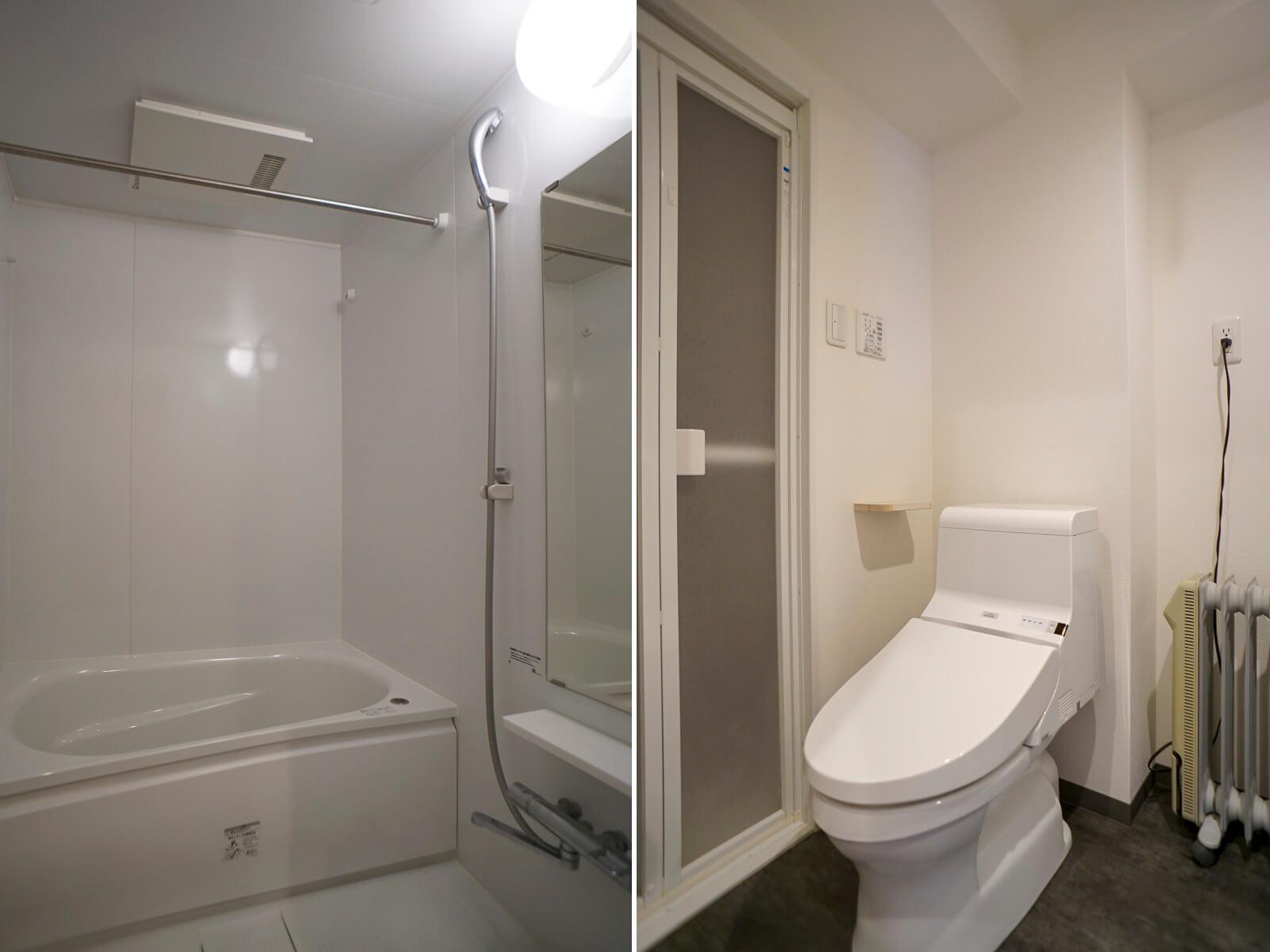 浴室は乾燥機と追いだき機能付き