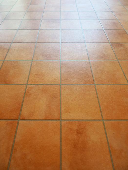 床はテラコッタ柄の長尺シート。これが物件の雰囲気にあっていてかわいい