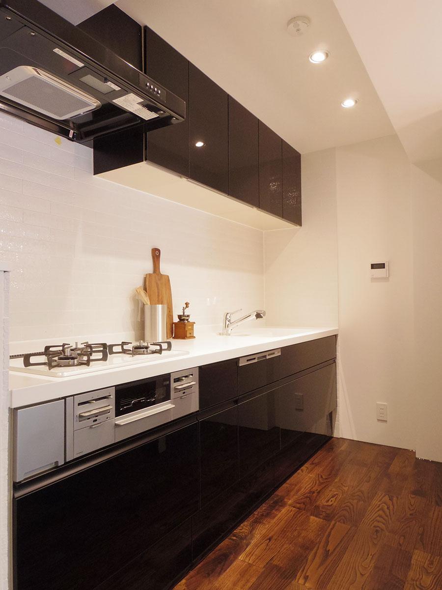 料理しやすそうなキッチン。食器洗浄機付き