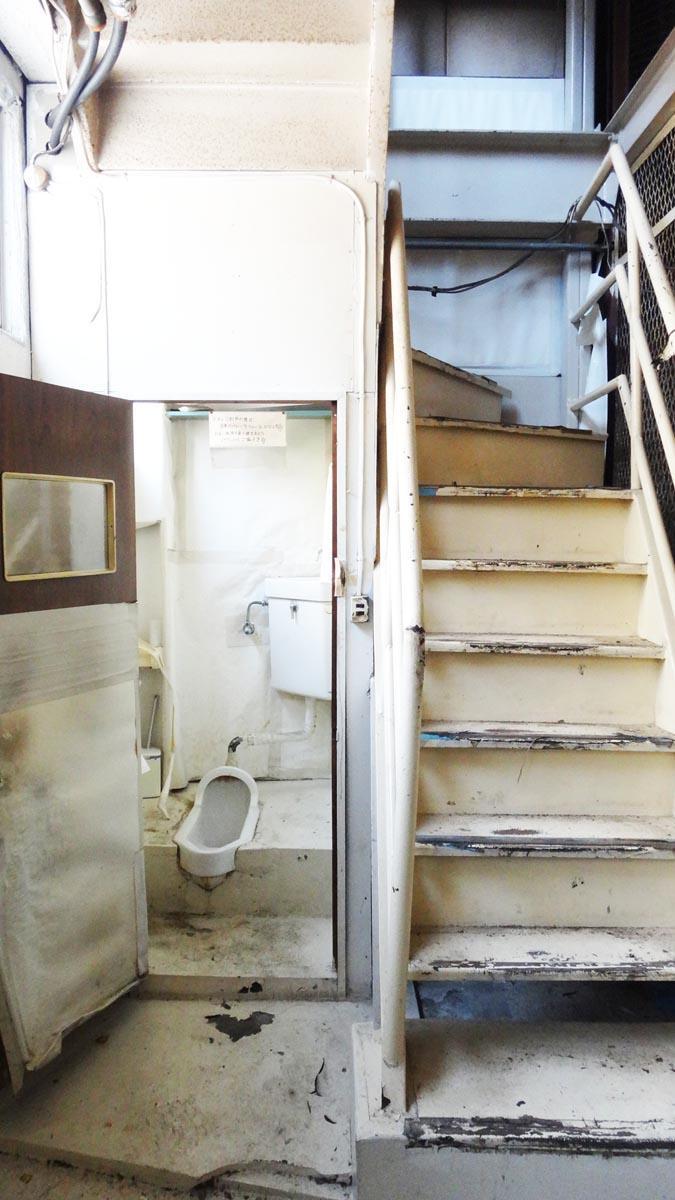 トイレは和式(1階)