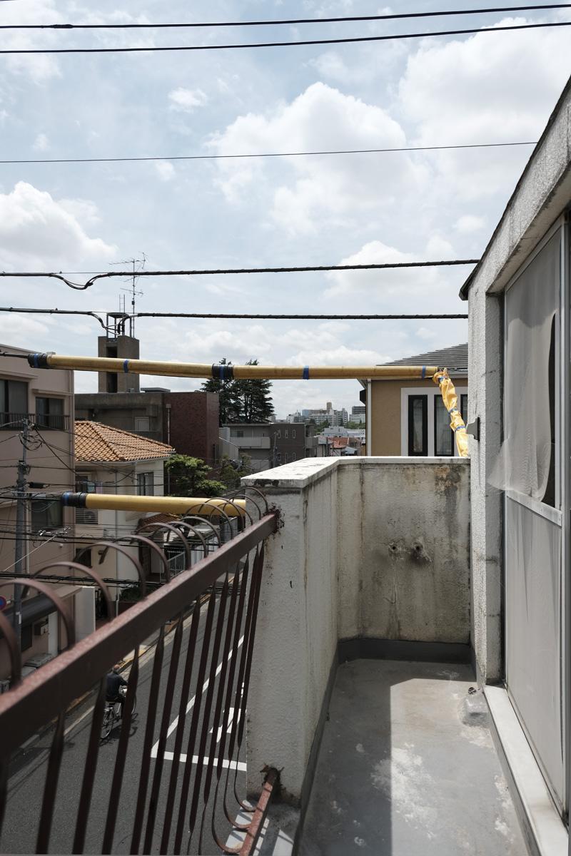 301・201号室:南側バルコニー(写真は3階部分のもの)