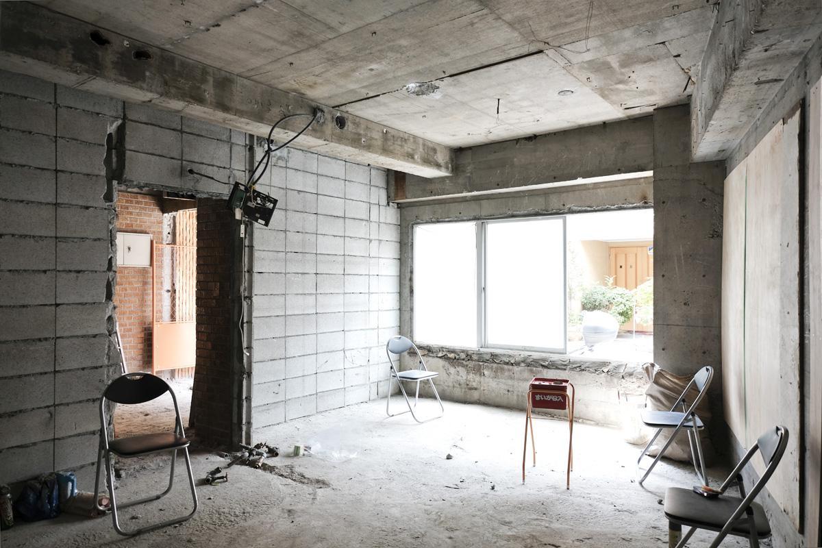 101号室:やや天井高め。住居兼事務所、教室など相談