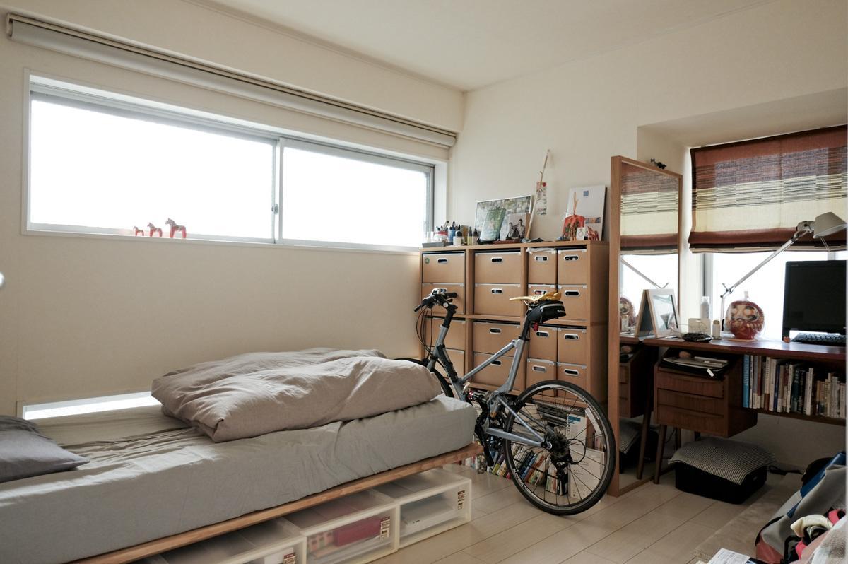 北西側の寝室(エアコンがなく設置する場合は置き型の室外機が不要なタイプのもの限定です)