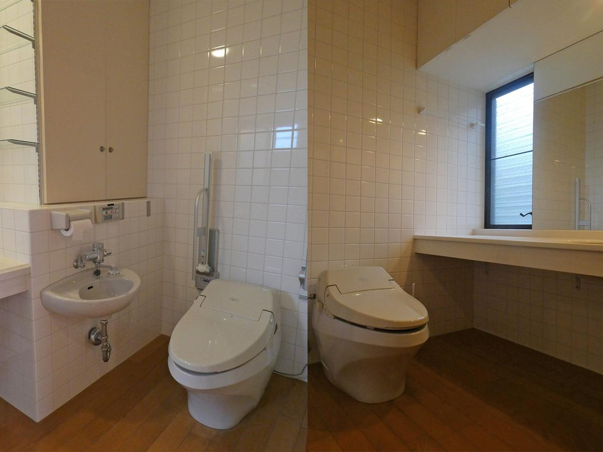 トイレ 2階 1階 どちらもゆったりサイズ