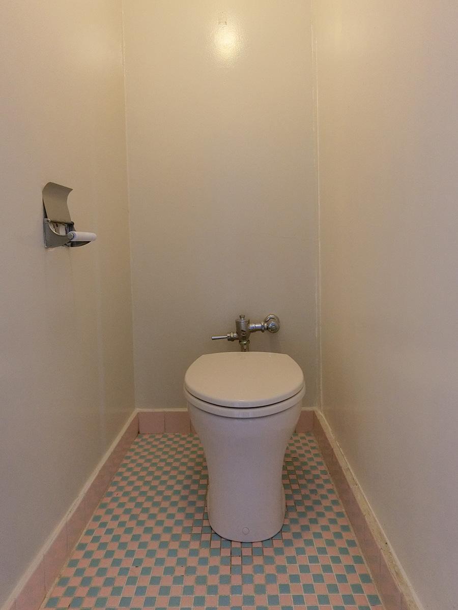 トイレ。水回りは年季を感じます
