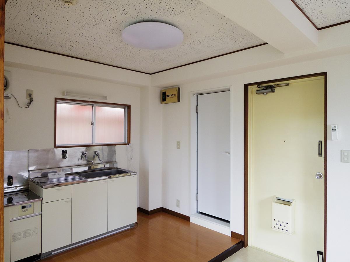 キッチンの横がユニットバス