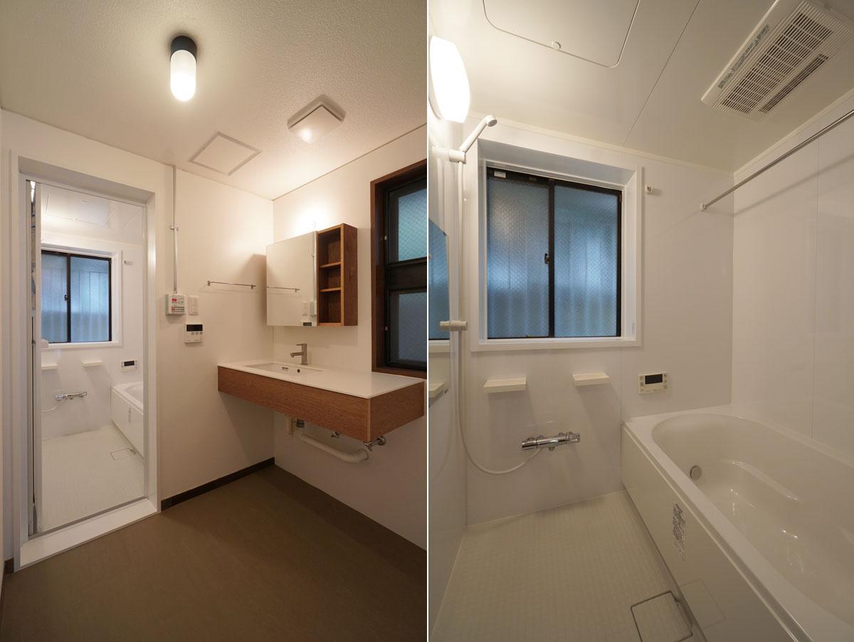 1階の水回りも、ユニットバスとtoolboxミニマル洗面台を新規交換しました