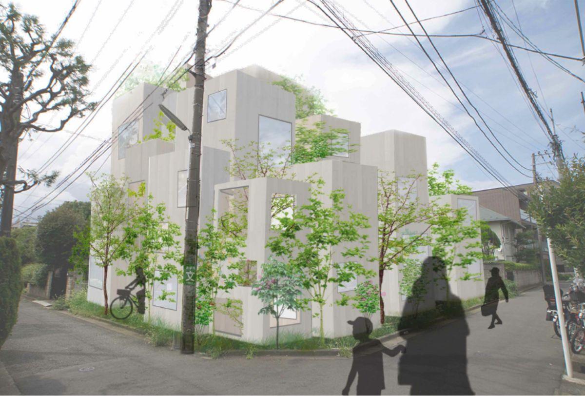 静かな低層住宅街の東南角地に建設予定
