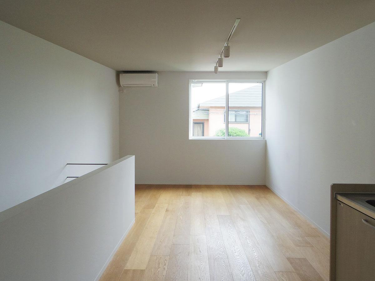 2階はリビング想定。柔らかな光と心地よい風が部屋を満たす