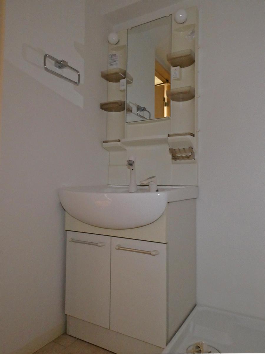 洗面。隣は洗濯機置き場