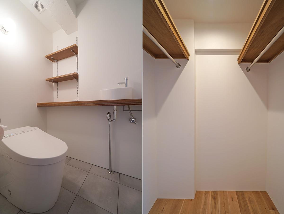 トイレとウォークインクローゼット