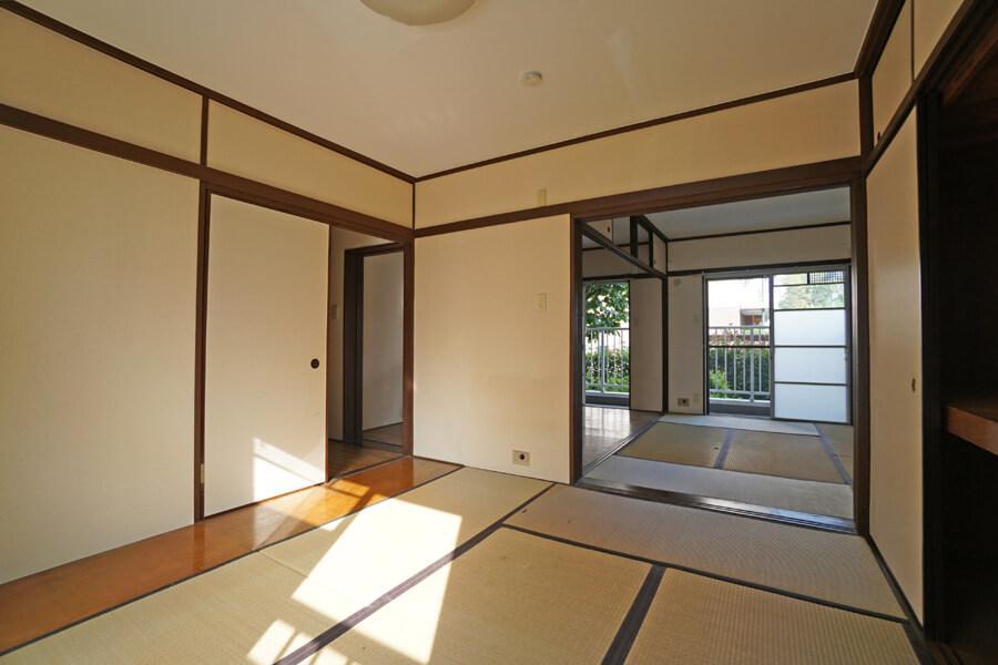 居室2は寝室にちょうど良い広さ