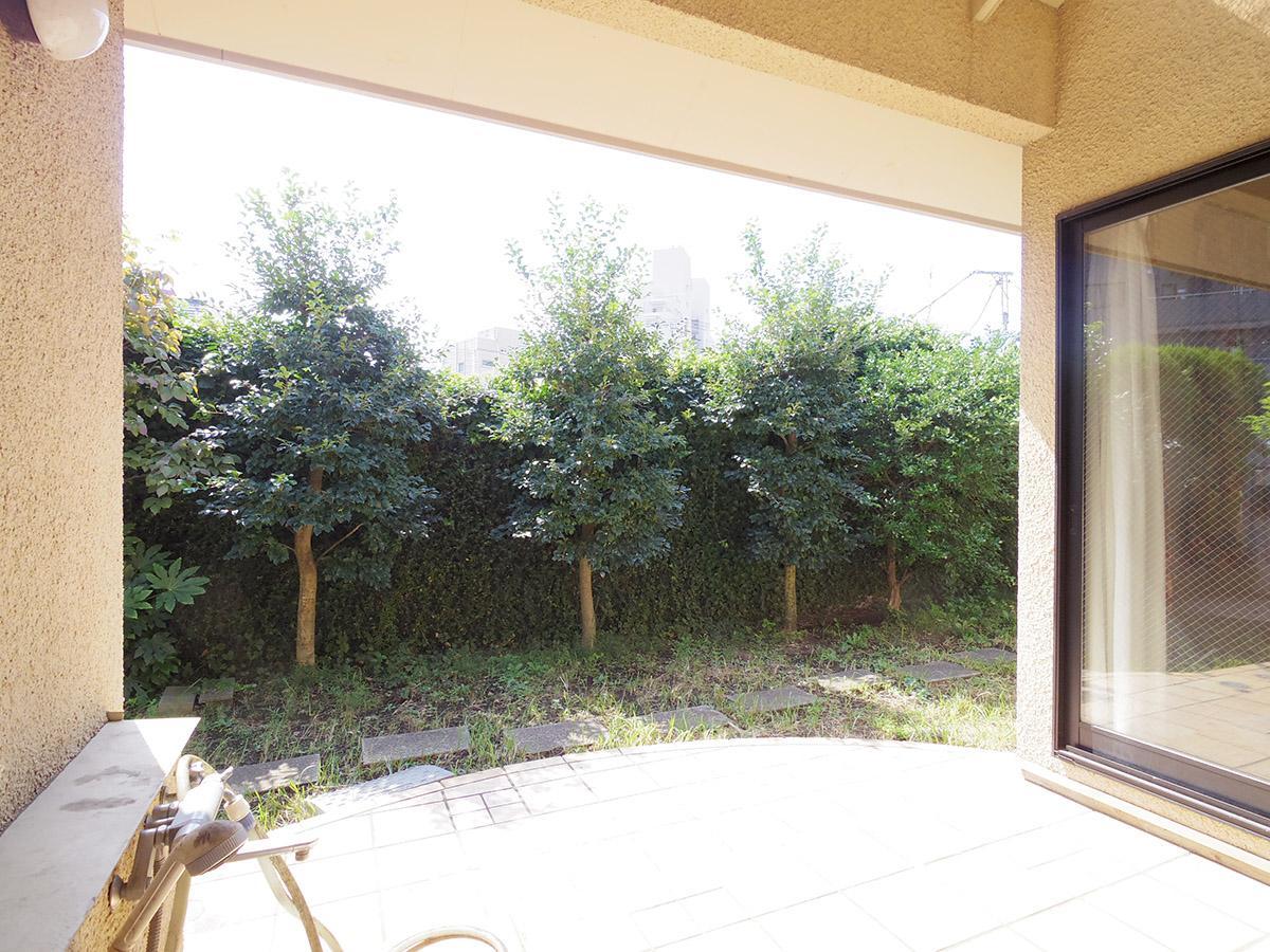 テラスとモクモクの庭の先は広い空!