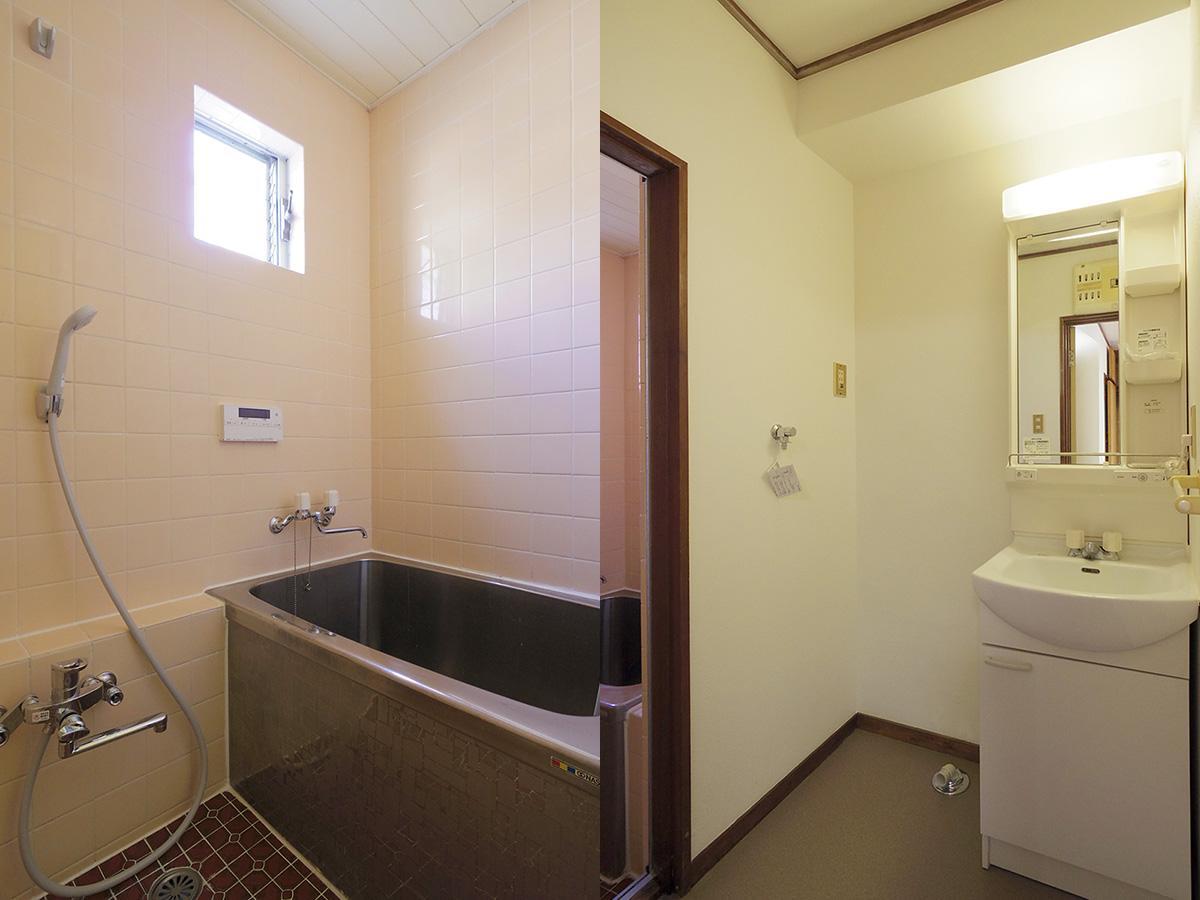 追いだき付きの風呂は古さも残っていますが、キレイな状態