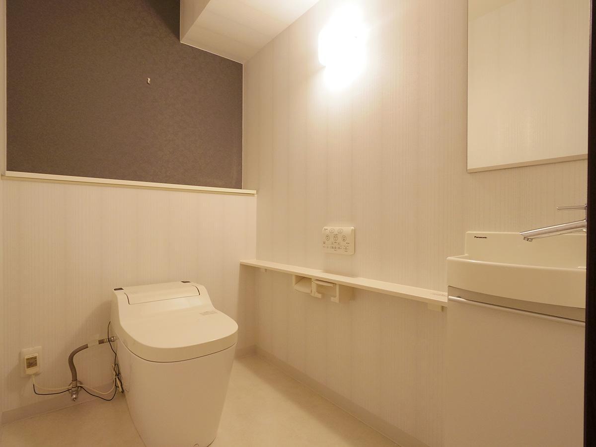 トイレが広々していて驚きます