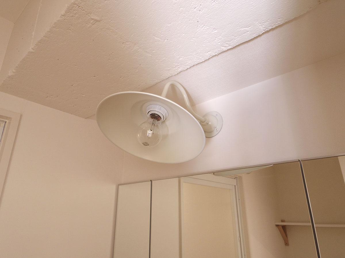 洗面所の照明一つとっても良いものが使われている