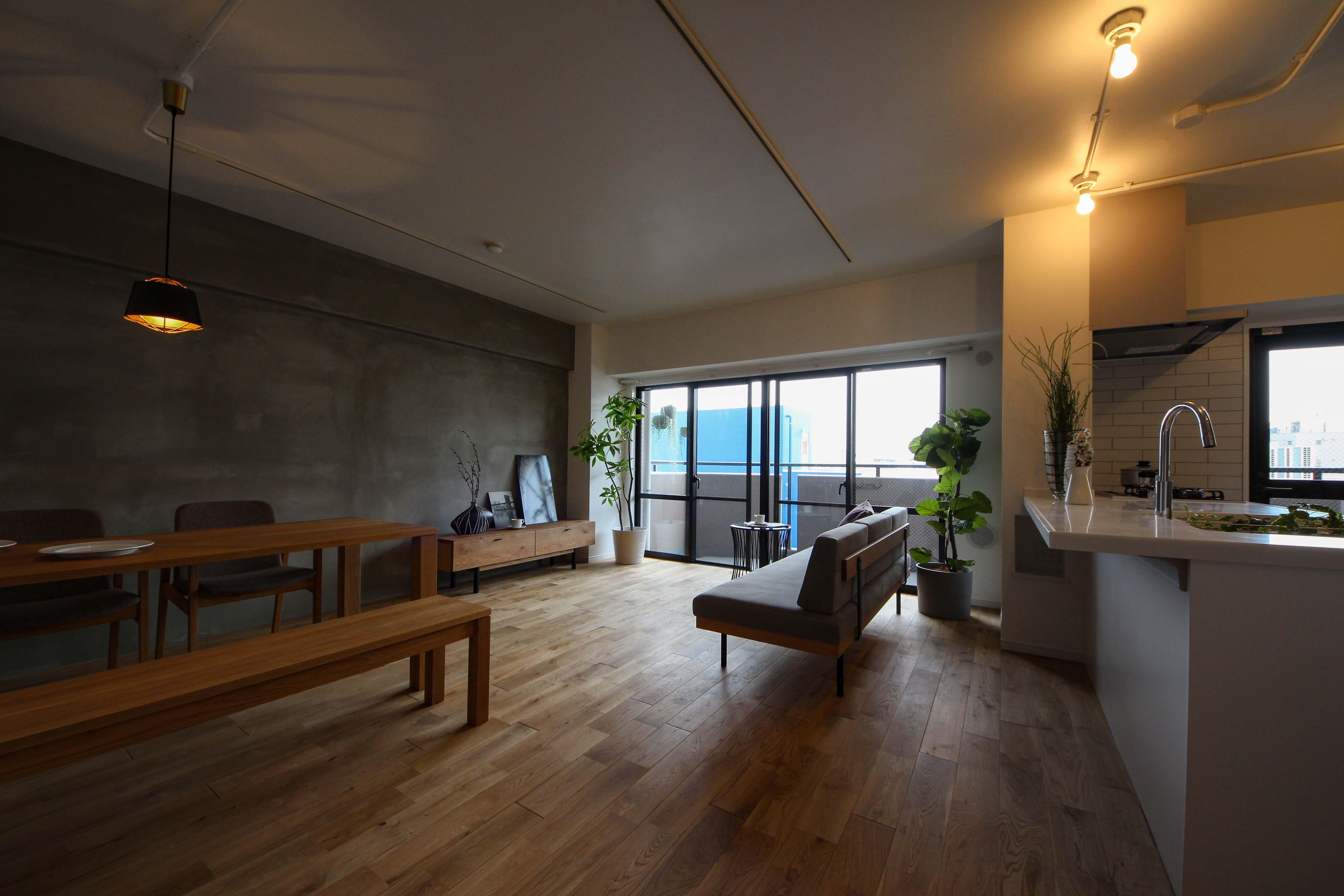 家具、照明のバランスも良く、とても落ち着いた雰囲気