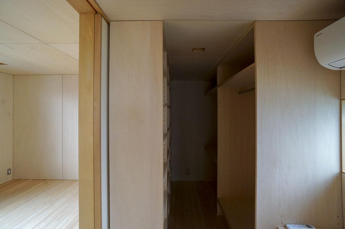 2階のクローゼット
