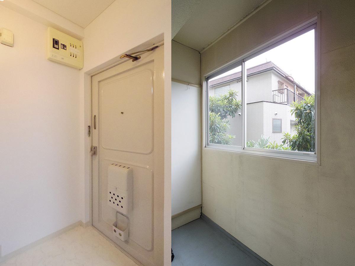 玄関(室内)とサンルーム