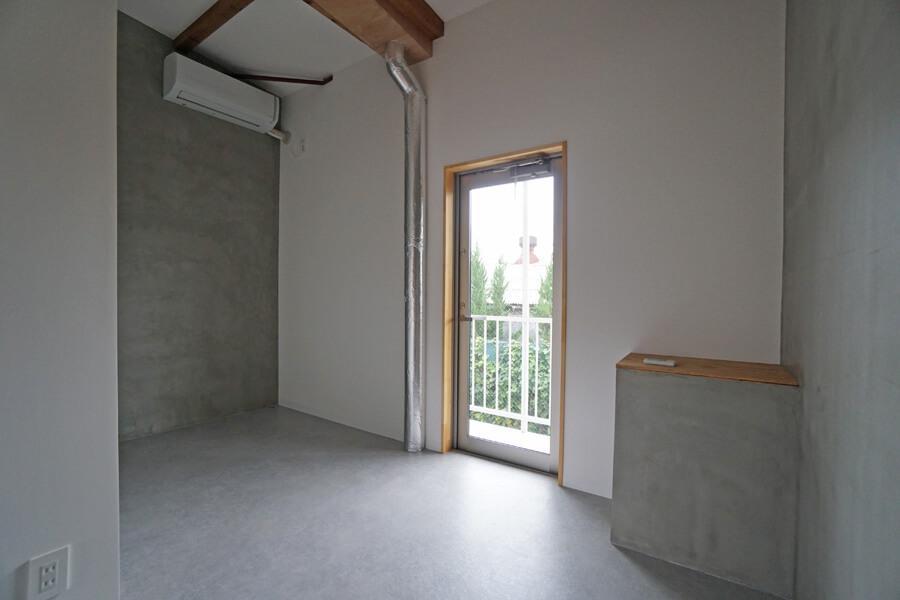 個室3は寝室に良さそうな部屋。Bタイプはベランダに出ることが可能