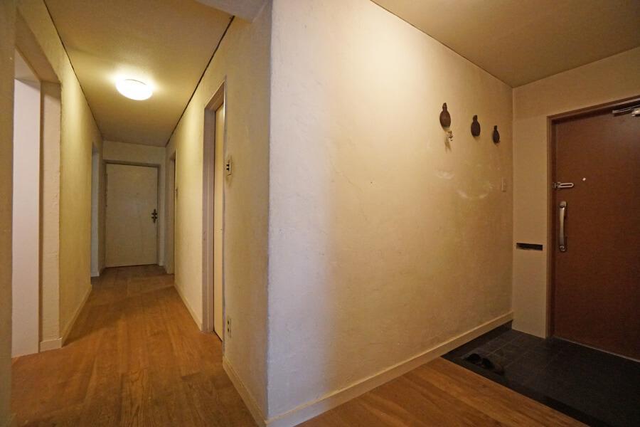 廊下や玄関の壁も漆喰です