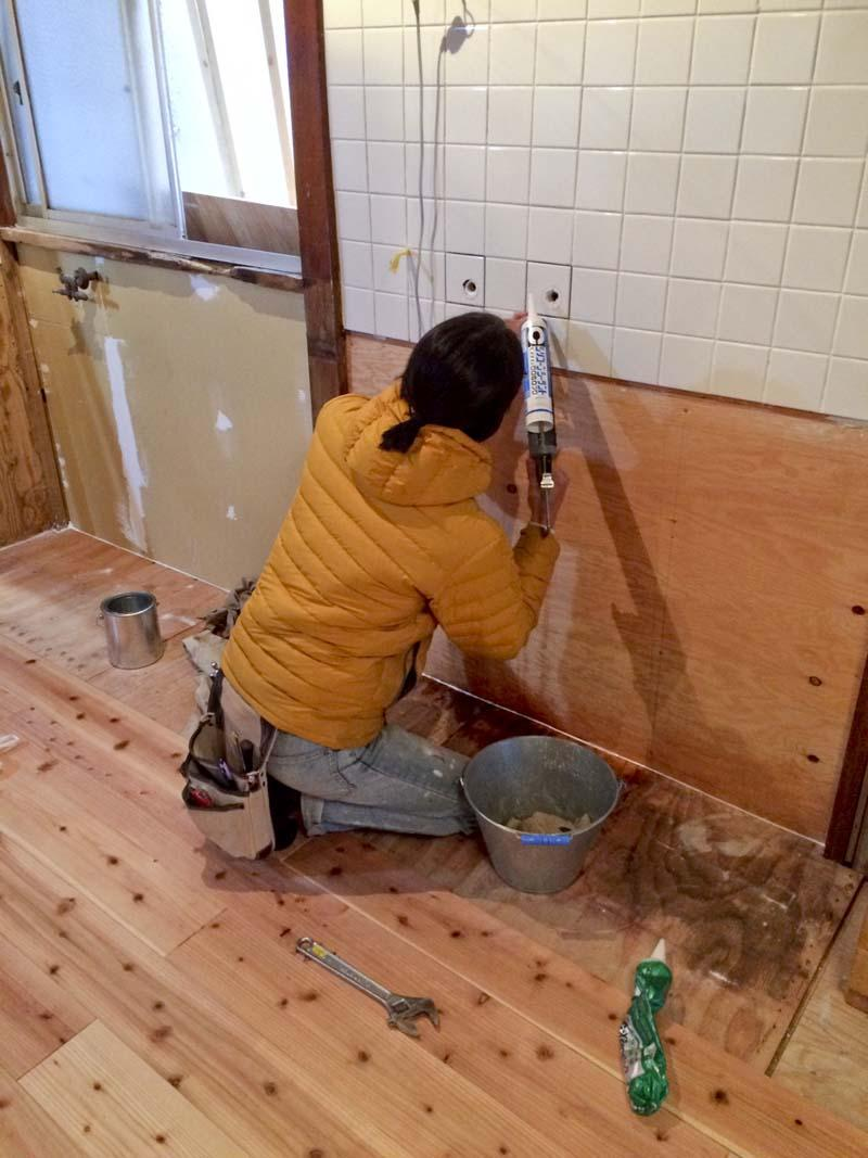 キッチン作成中の時の写真