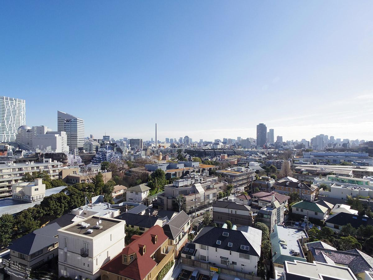 この物件の目玉。渋谷の街を一望できる、このパノラマ!